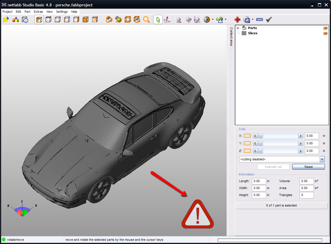 netfabb stl error attention